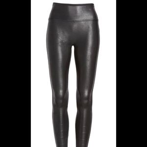 Spanx Faux Leather Leggings Size XL